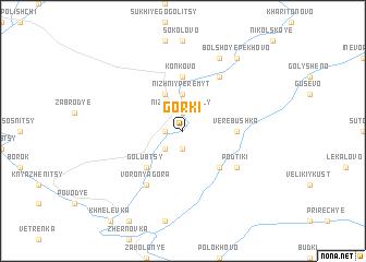map of Gorki
