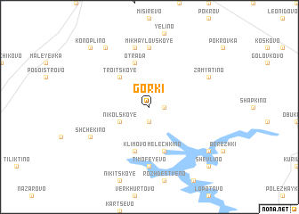 map of Gorki