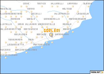 map of Gorleri