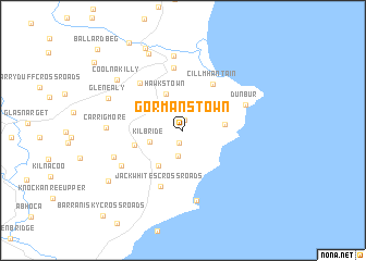 map of Gormanstown
