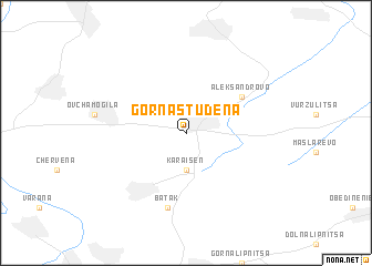 map of Gorna Studena