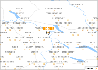 map of Górne