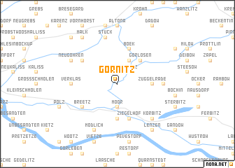 map of Görnitz