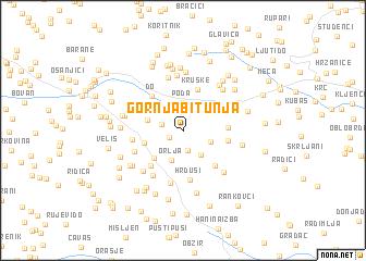 map of Gornja Bitunja