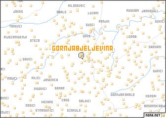 map of Gornja Bjeljevina