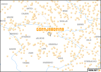 map of Gornja Borina