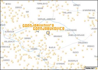 map of Gornja Bukovica