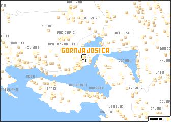 map of Gornja Jošica