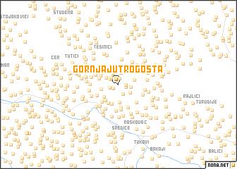 map of Gornja Jutrogošta