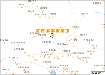 map of Gornja Kamenica