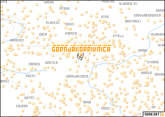 map of Gornja Koprivnica