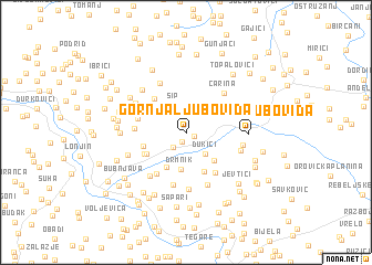 map of Gornja Ljuboviđa
