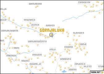 map of Gornja Luka