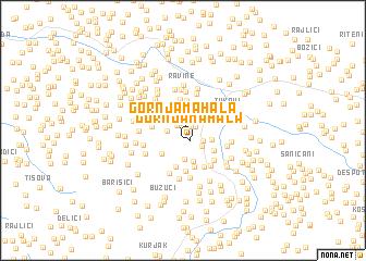 map of Gornja Mahala