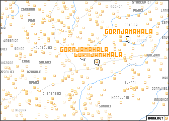 map of Gornja Mahala