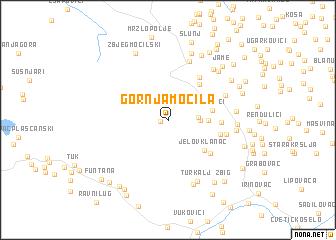 map of Gornja Močila