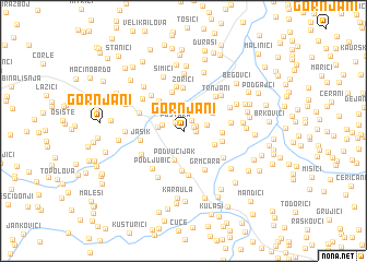 map of Gornjani