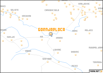 map of Gornja Ploča