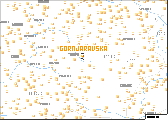 map of Gornja Ravska