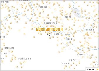 map of Gornja Rovna