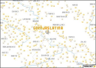 map of Gornja Slatina