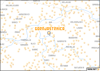 map of Gornja Strmica