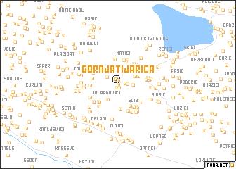 map of Gornja Tijarica