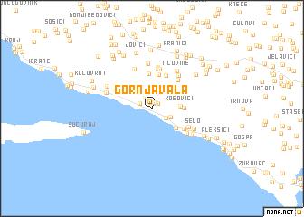 map of Gornja Vala