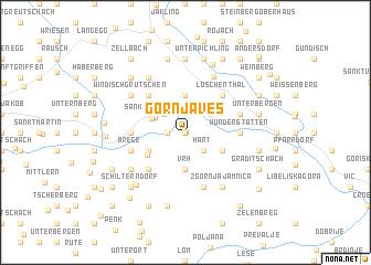 map of Gornja Ves