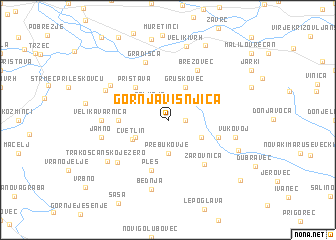 map of Gornja Višnjica