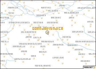 map of Gornja Višnjica
