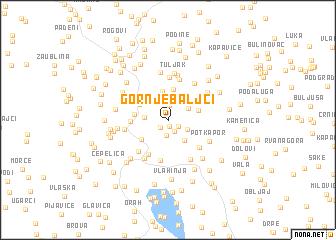 map of (( Gornje Baljci ))