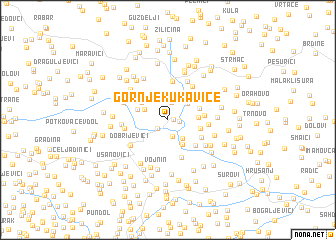 map of Gornje Kukavice