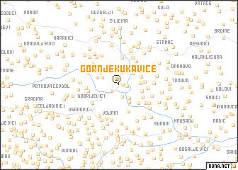 map of Gornje Kukavice