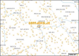 map of Gornje Polje