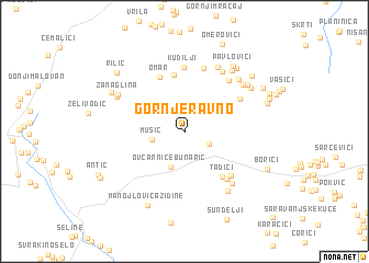 map of Gornje Ravno