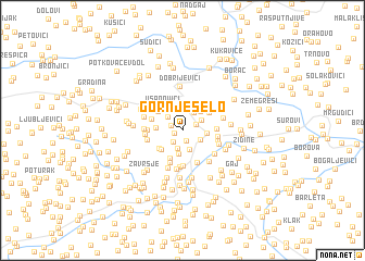 map of Gornje Selo