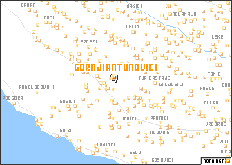 map of Gornji Antunovići