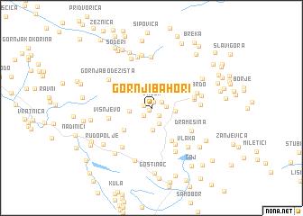 map of Gornji Bahori