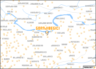 map of Gornji Begići