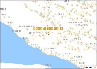 map of Gornji Begovići