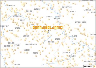 map of Gornji Boljanići