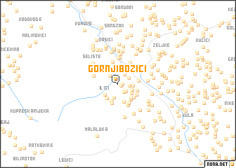 map of Gornji Bozići