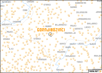 map of Gornji Bozinci