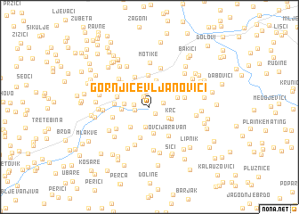 map of Gornji Čevljanovići