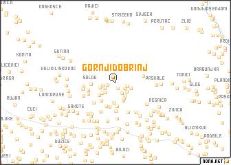 map of Gornji Dobrinj