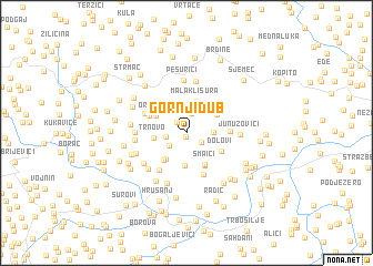 map of Gornji Dub