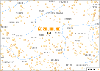 map of Gornji Humci