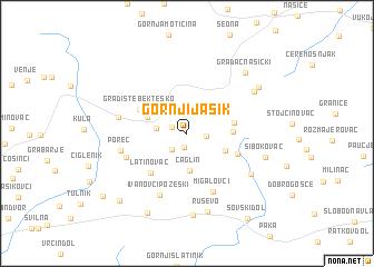 map of Gornji Jasik