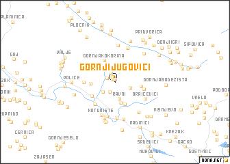 map of Gornji Jugovići